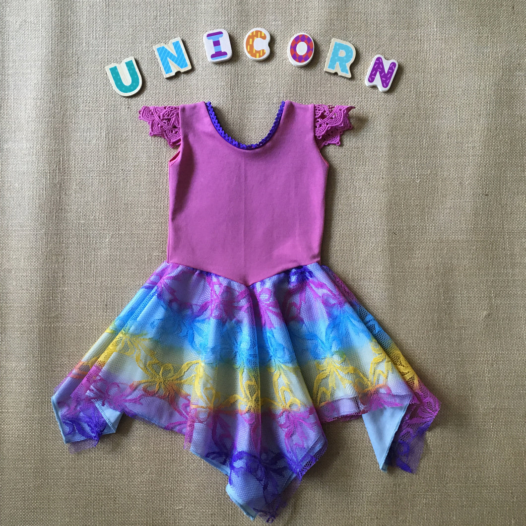 Unicorn Layered Fairy Dress Baby Size 00, 0, 1