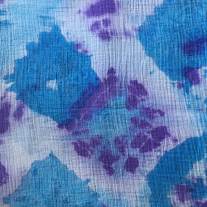 Tie Dyed Muslin Baby Wrap Purple/Blue/White