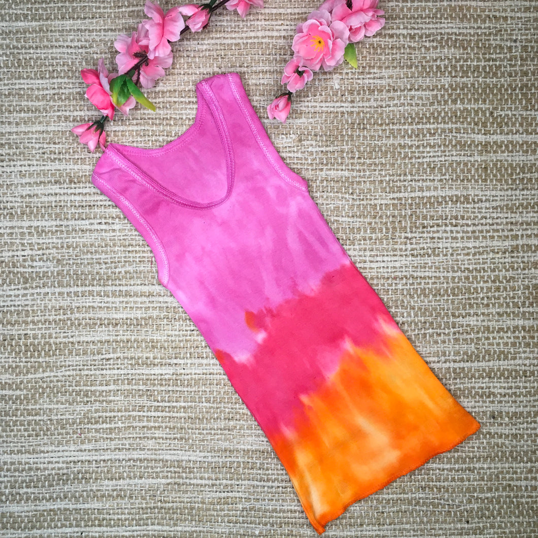 Tie Dyed Singlet Pink/Red/Orange size 000
