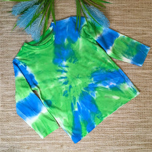 Tie Dyed T-Shirt Long Sleeve Blue/Green size 3