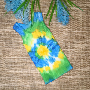 Tie Dyed Singlet Blue/Green/Yellow Size 000
