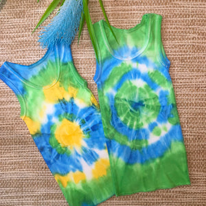 Twin Set Singlet Green/Blue/Yellow