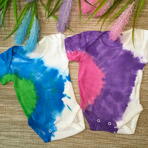 Twin Set Romper Blue/Green and Purple/Pink