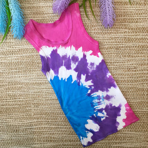 Tie Dyed Singlet Pink/Purple/Blue Size 0