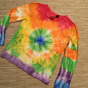 Tie Dyed T-Shirt Long Sleeves Multicoloured