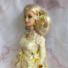 Fairy Doll Cream Lace with Gold Flowers