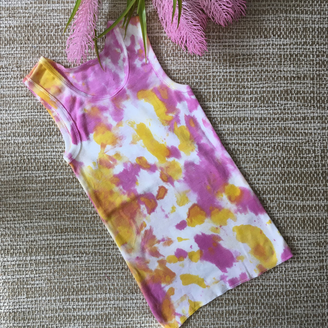 Tie Dye Singlet Pink/Yellow size 000-2 years