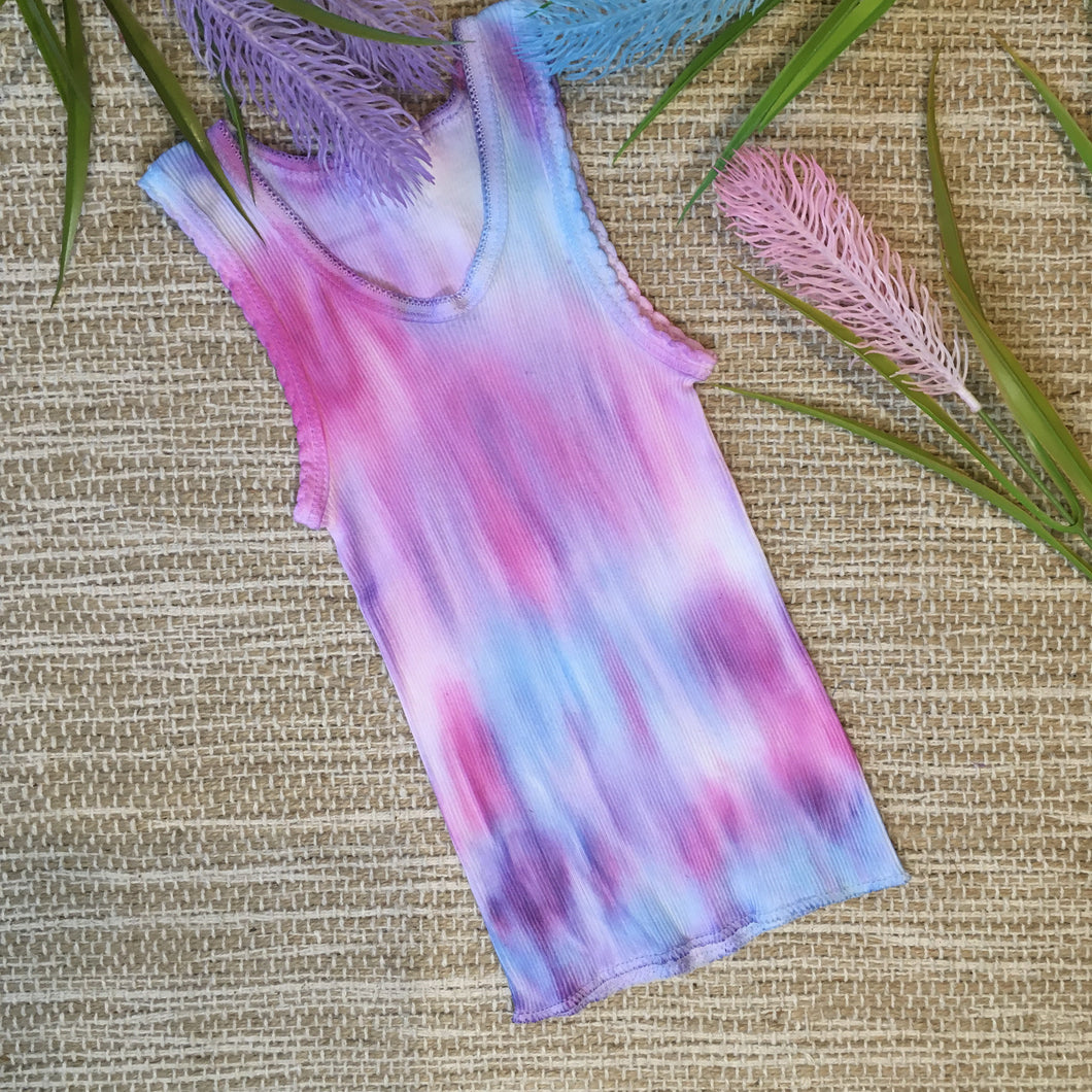 Tie Dyed Singlet Unicorn Purple/Blue/Pink size 000-6 years