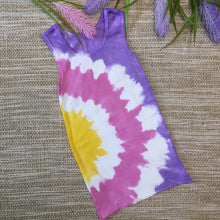 Tie Dyed Singlet Purple/Pink/Yellow size 00-6 years