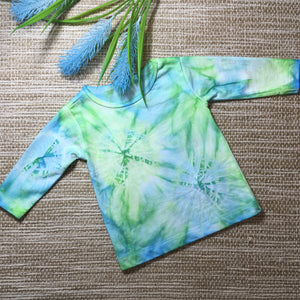 Tie Dyed T-Shirt Long Sleeve Blue/Green/ Baby sizes 00000-1