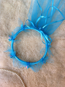 Handmade Blue Fairy Head Piece
