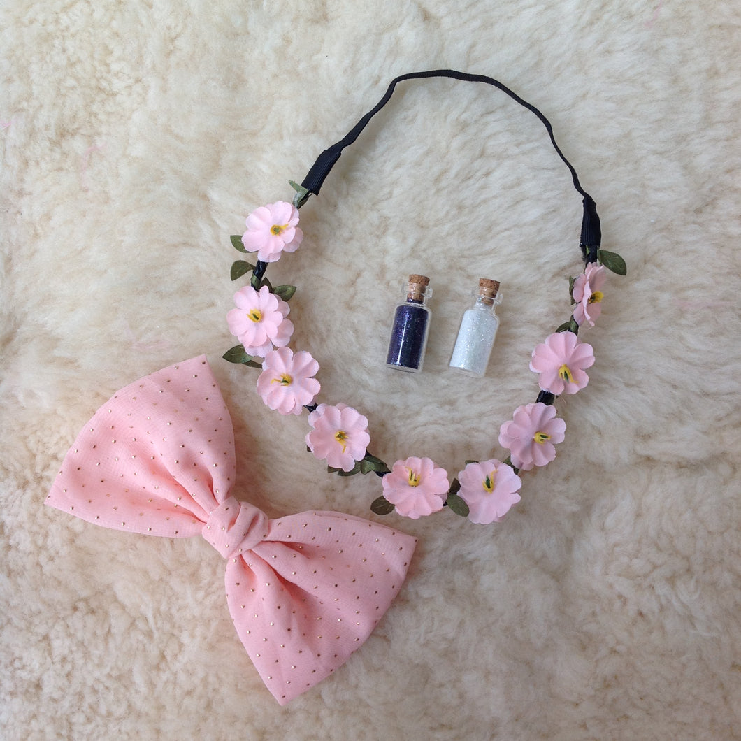 Bow and Flower Head Band