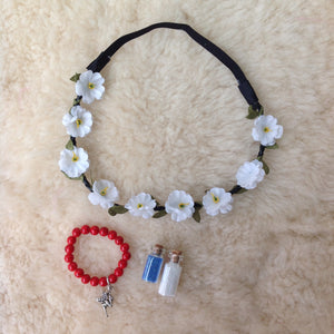Fairy Charm Bracelet and Head Flower Gift Set