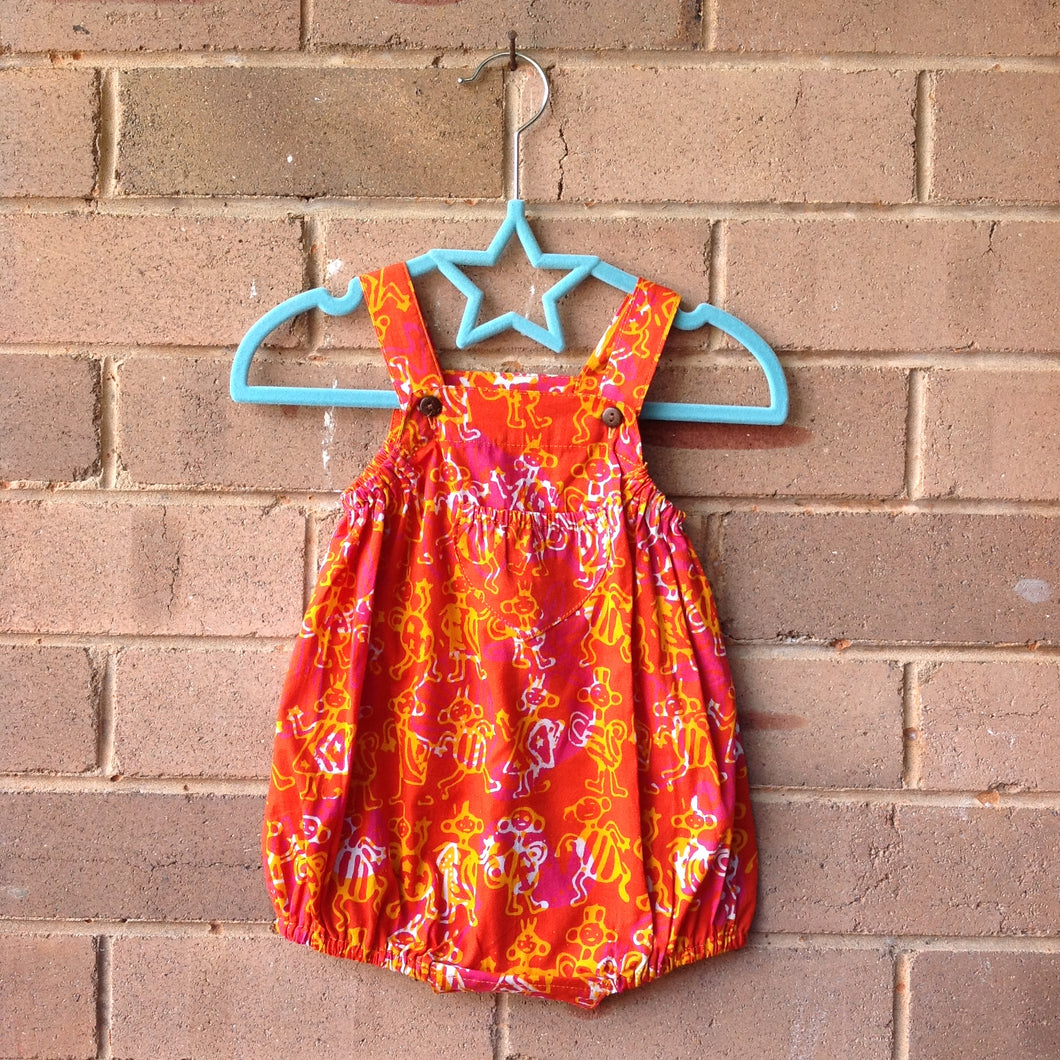 Batik Baby Romper Orange Tribal