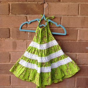 Halter Neck Tiered Batik Dress