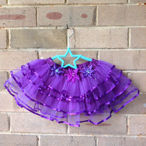 Purple Enchanted Layer Tutu Skirt 1-2 year old