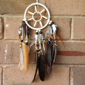 Dreamcatcher boho vintage bones and feathers