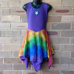 Layered Rainbow with Midnight Purple Princess Fairy Dress