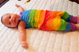 TIE DYED RAINBOW BABY PANTS/ LEGGINS Red Top