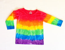 TIE DYED LONG SLEEVE T-SHIRT Red Top