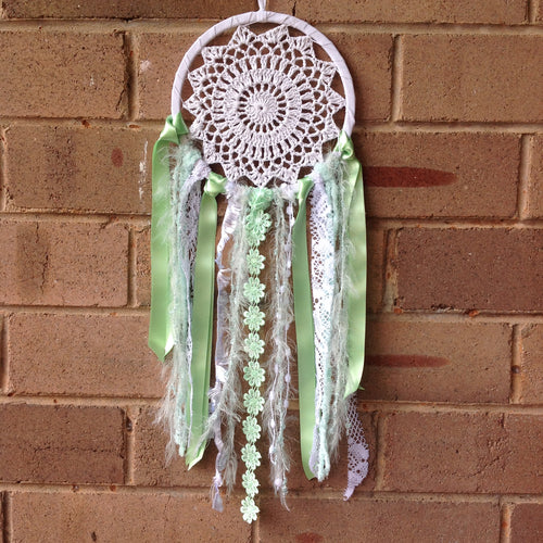 Dreamcatcher Boho Crochet Mint 16cm