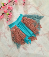 LULU FAIRY SKIRT Arctic blue/Coral