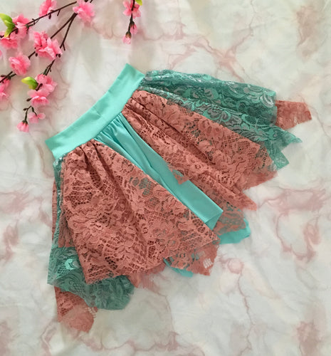 LULU FAIRY SKIRT MINT/CORAL