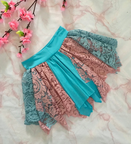 LULU FAIRY SKIRT  Arctic Blue/Dusty Rose
