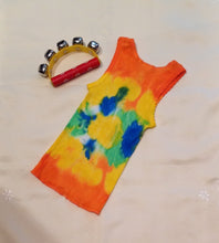 Tie Dyed Baby Singlet Orange, Blue, Green, Yellow Combination Size 0