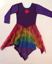 Layered Rainbow with Midnight Purple Princess Fairy Dress Long Sleeve