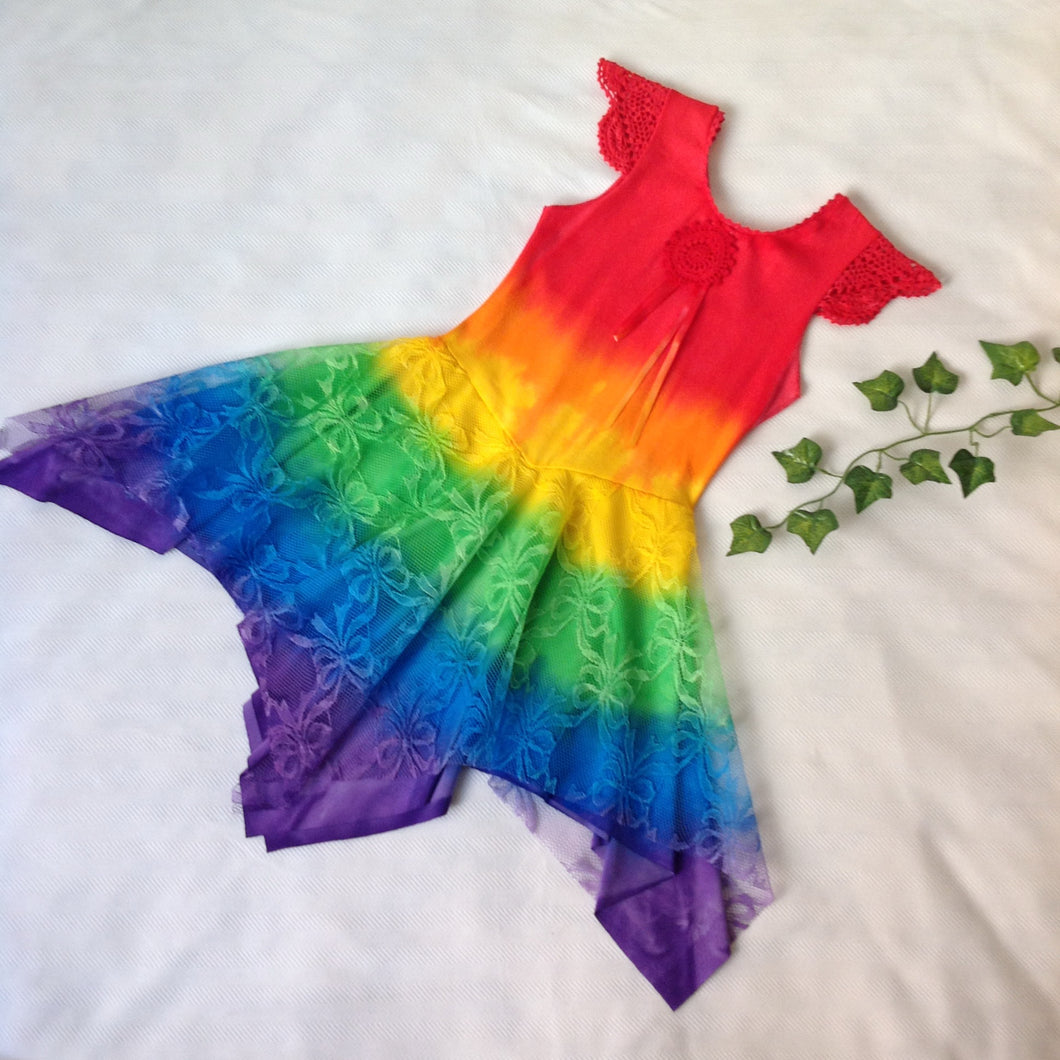 All Rainbow Princess Fairy Dress RED Top Size 2-12