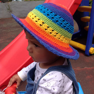 Crochet Rainbow Hats Small