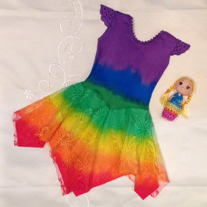 All Rainbow Princess Fairy Dress Baby PURPLE Top