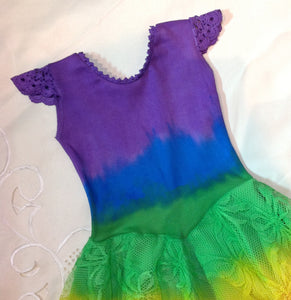 All Rainbow Princess Fairy Dress Purple Top Baby size 00