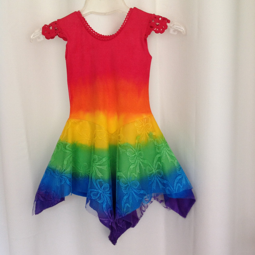 All Rainbow Princess Fairy Dress RED Top Baby Size 00, 0, 1