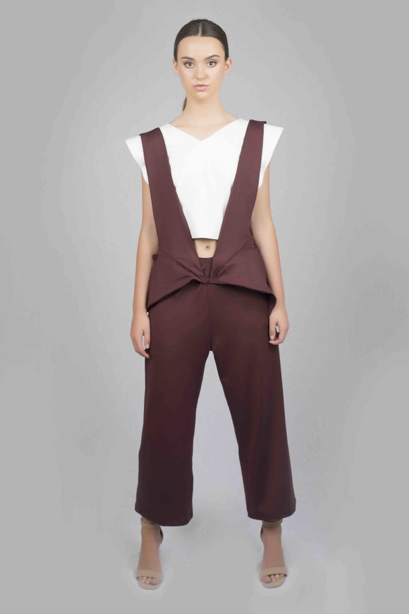 Trinities Jumpsuits - Burgundy