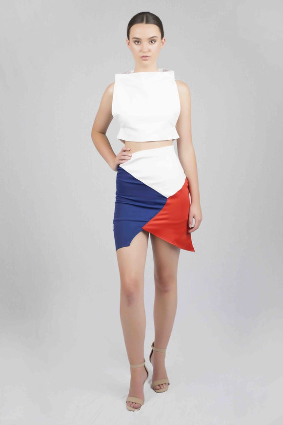 Trifusion Skirt - White
