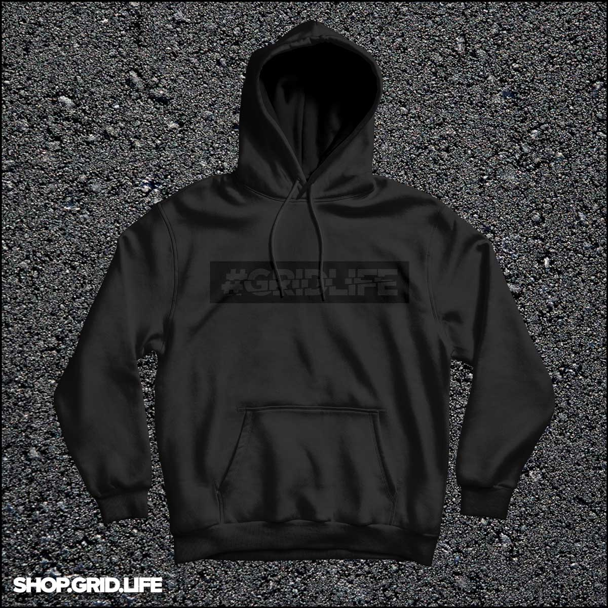 Black on Black Sponge Fleece Hoodie