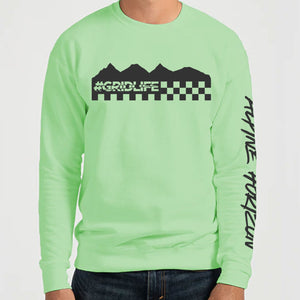 Alpine Mountain Vibes Long Sleeve - Bright Mint