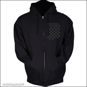 Black on Black Apex Crew Zip Up
