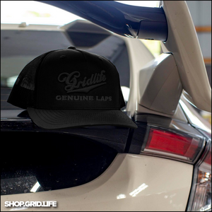 GENUINE LAPS BLACK on BLACK snapback mesh hat