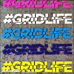 GRIDLIFE Block Logo Decal - (Multiple Colors)