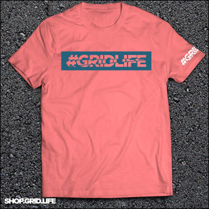 GRIDLIFE - BOX LOGO -  Coral & Blue
