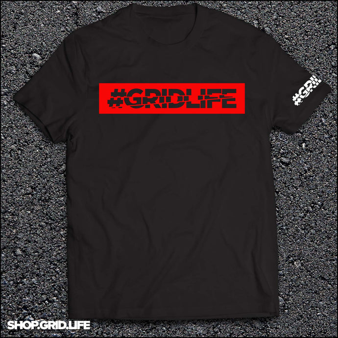 GRIDLIFE - BOX LOGO - Black & Red