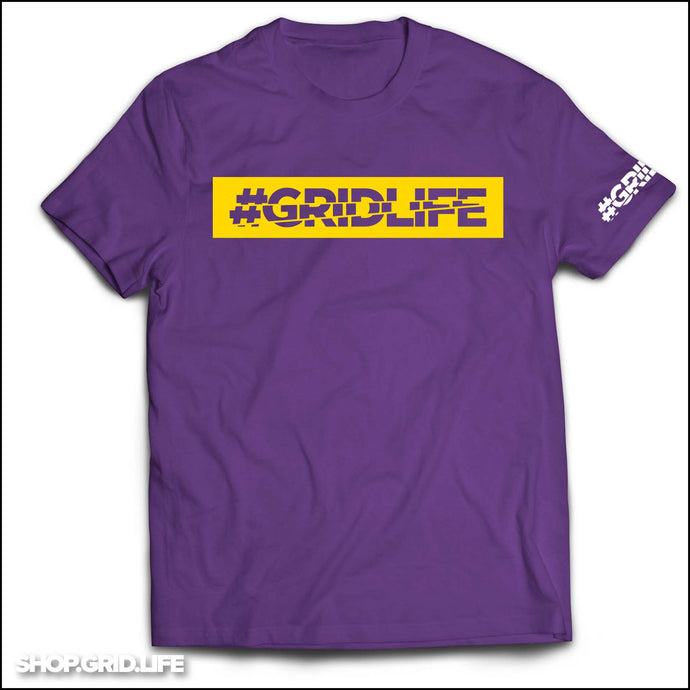 GRIDLIFE - BOX LOGO - Purple & Gold