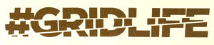 #GRIDLIFE Block Logo Decal