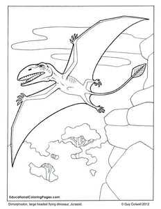 Dinosaurs and Early Mammals Coloring Book 2 - Fashionura