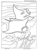 Sea and Seashore Coloring Book 1 & 2 - Fashionura