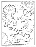 Dinosaurs and Early Mammals Coloring Book 1 - Fashionura