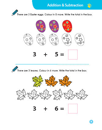 Cheekie Learning Addition & Subtraction Workbook - Fashionura